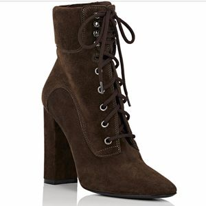 Barney's New York Suede Booties Size 42 *NEW*
